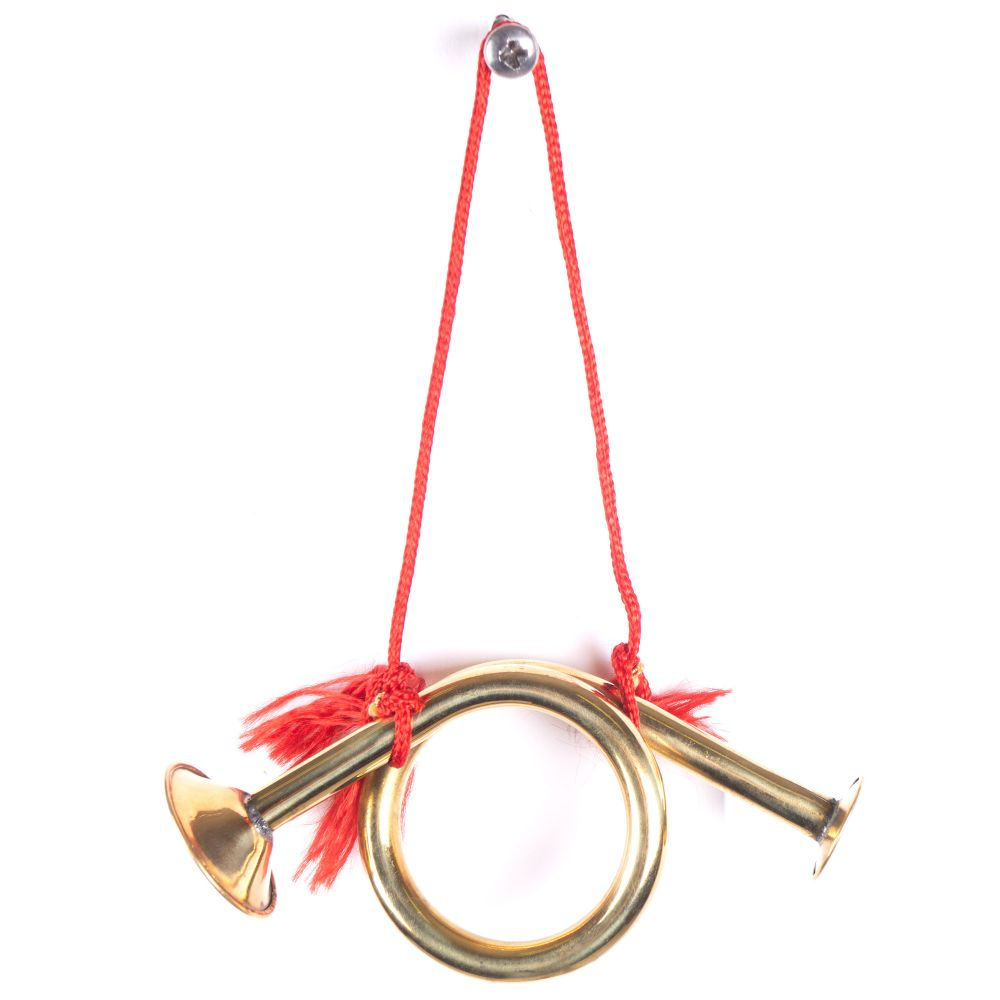 Solid Brass Horn Ornament